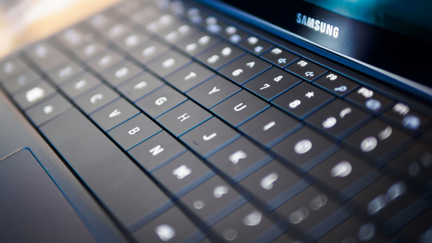 At 1.4mm of travel, the keyboard is a surprisingly pleasant typing experience for a tablet.