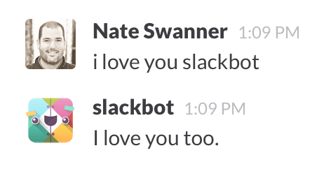 nate and slack, sitting in a tree