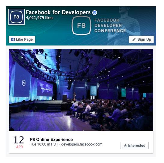 Facebook F8 Live Video