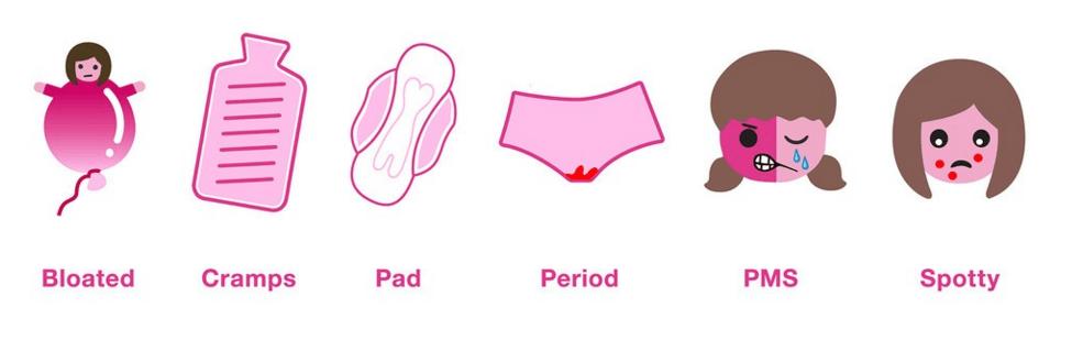 Bodyform period emojis