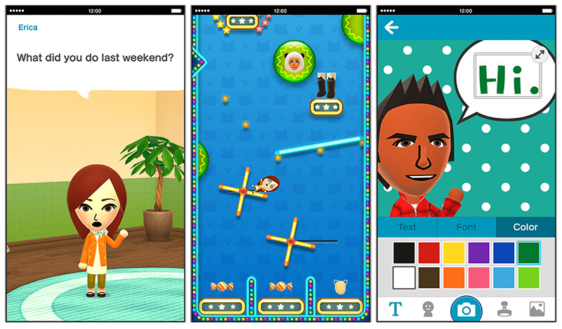 Your Mii will learn about you, let you play a game and feature in photo mashups