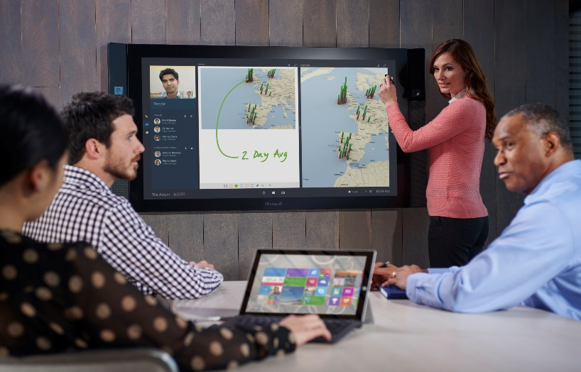 Microsoft's giant Surface whiteboard is finally shipping after numerous delays