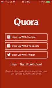 quora onboarding