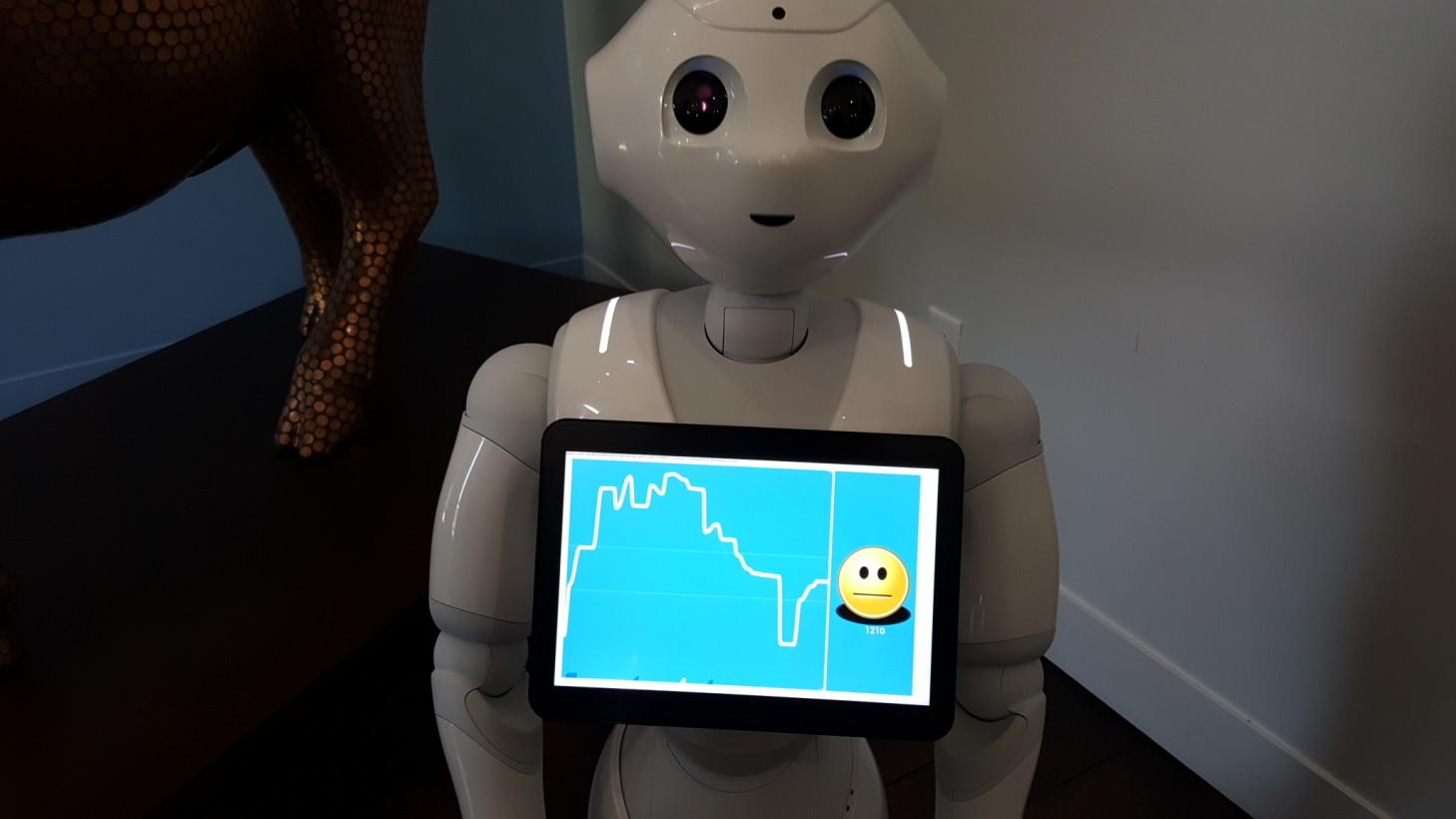 pepper robot emotion game