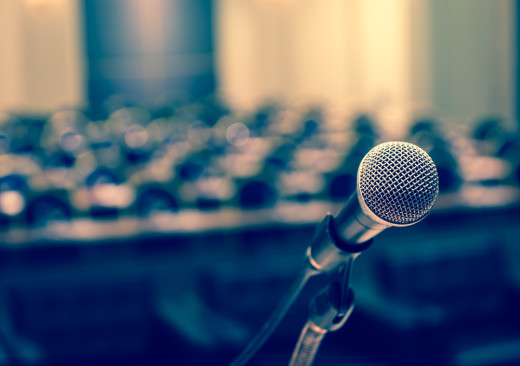 microphone, speaker, PR, comment