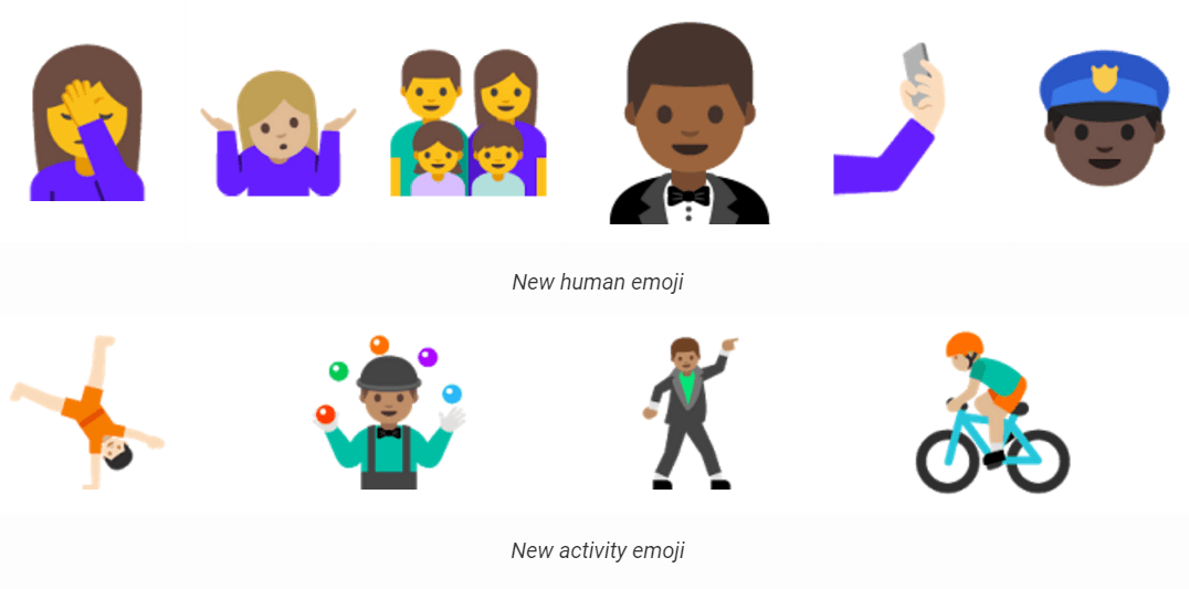 Android N New Emoji