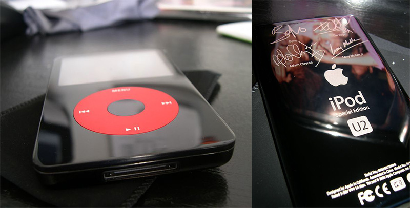 Apple teamed up with U2 to create this special iPod variant, first in 2004 and again in 2006