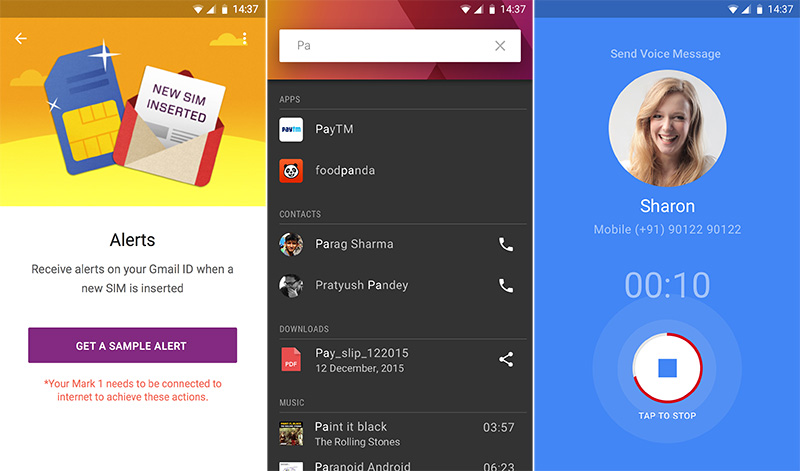 CREO's Fuel OS includes useful features for retrieving your lost phone, device-wide search and voicemail