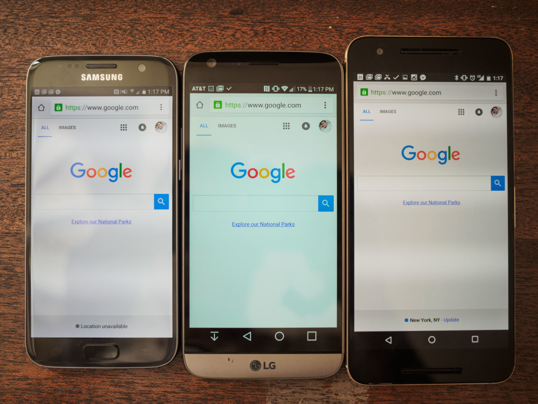 The G5's display is drastically cold compared to almost any high end display nowadays