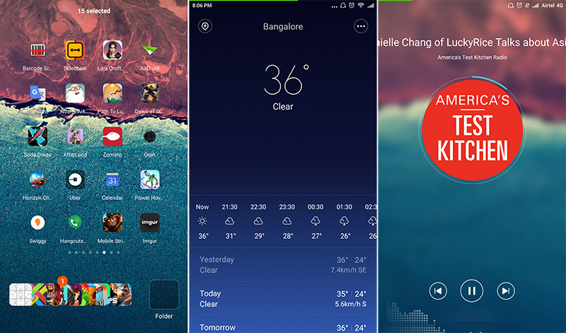 MIUI 7 offers plenty of features