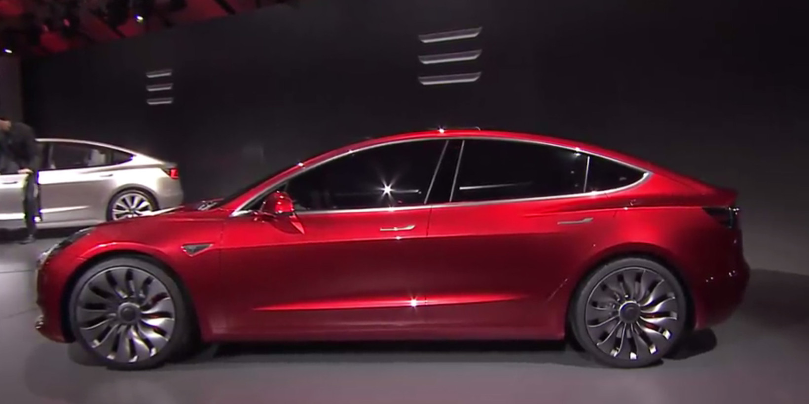 tesla unveils its 35 000 model 3 for the masses. Black Bedroom Furniture Sets. Home Design Ideas