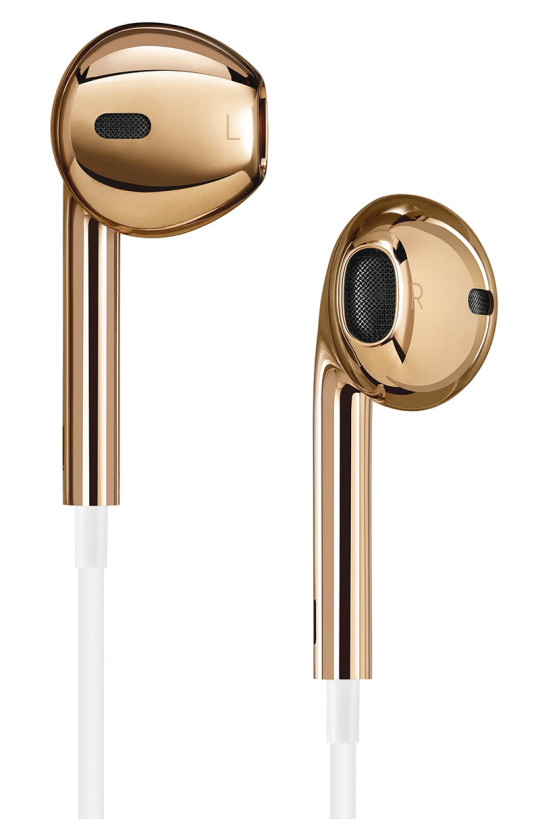 These earpods are made of solid 18k rose gold