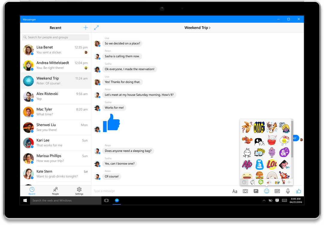 messenger-with-device-shadow