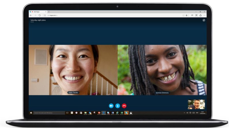 Skype now works on the Web without plugins, but only if you use Edge