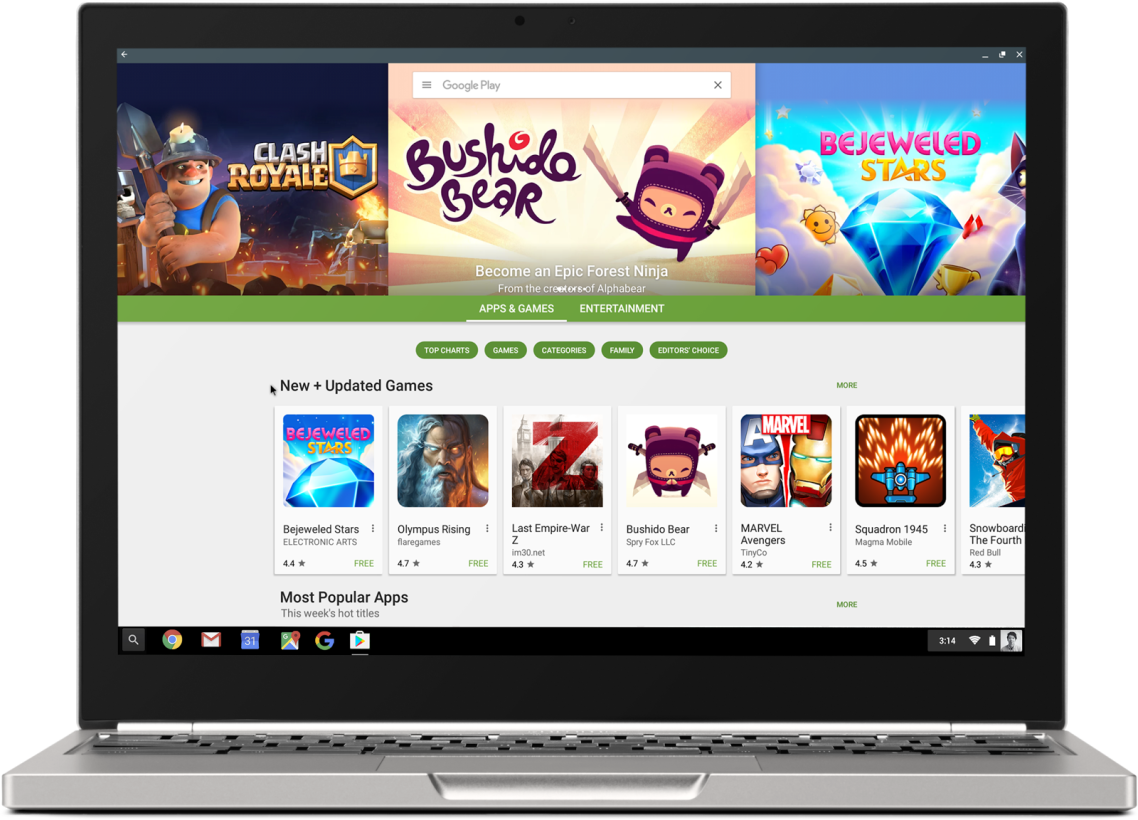 Play Store Google Android Chromebook Pixel