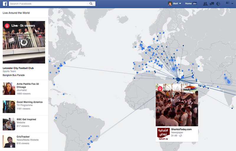 Facebook's map is the best way to discover live video streams