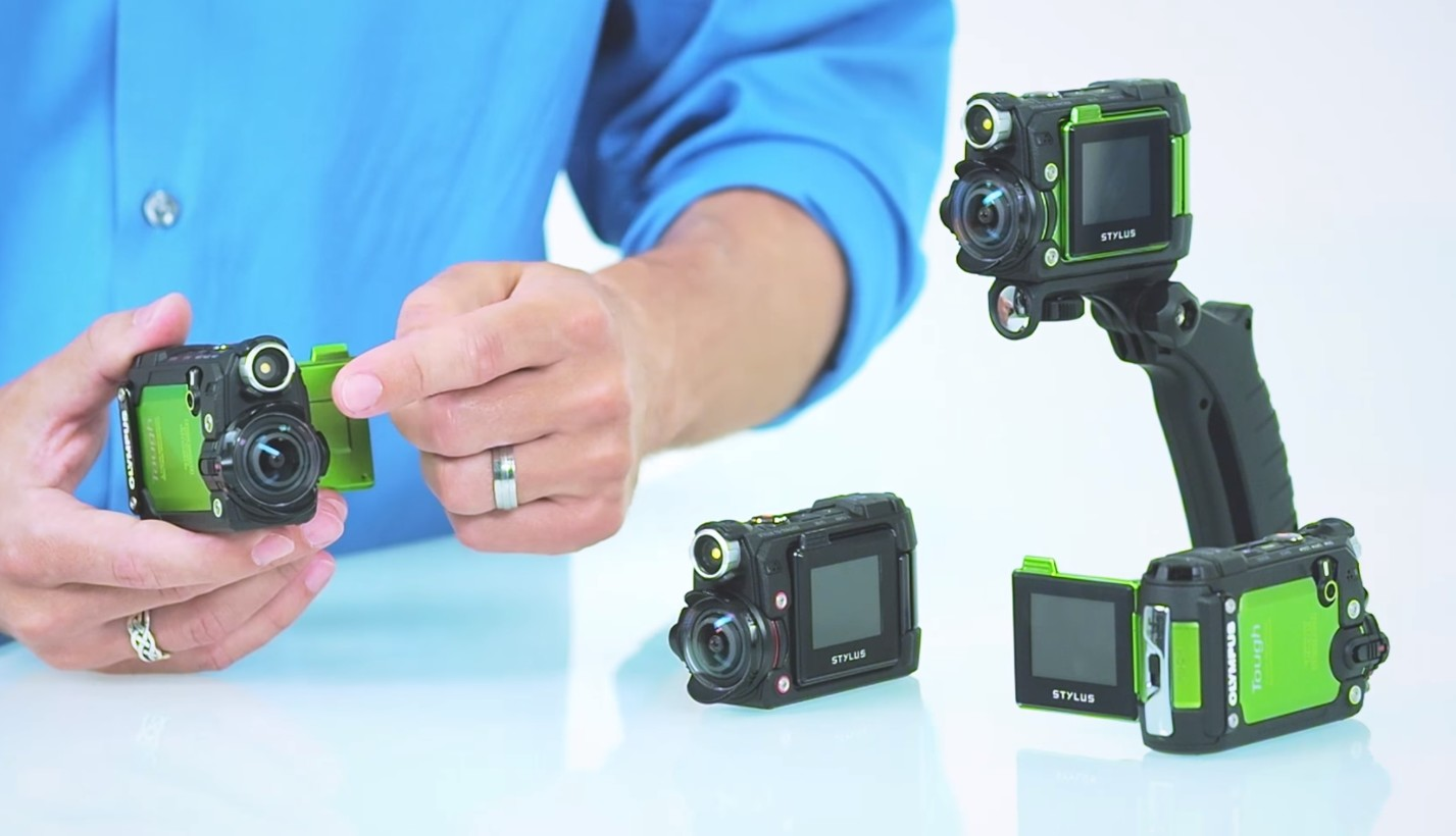 Olympus Rugged Action Cam Stabilizes Video And Tracks Stats