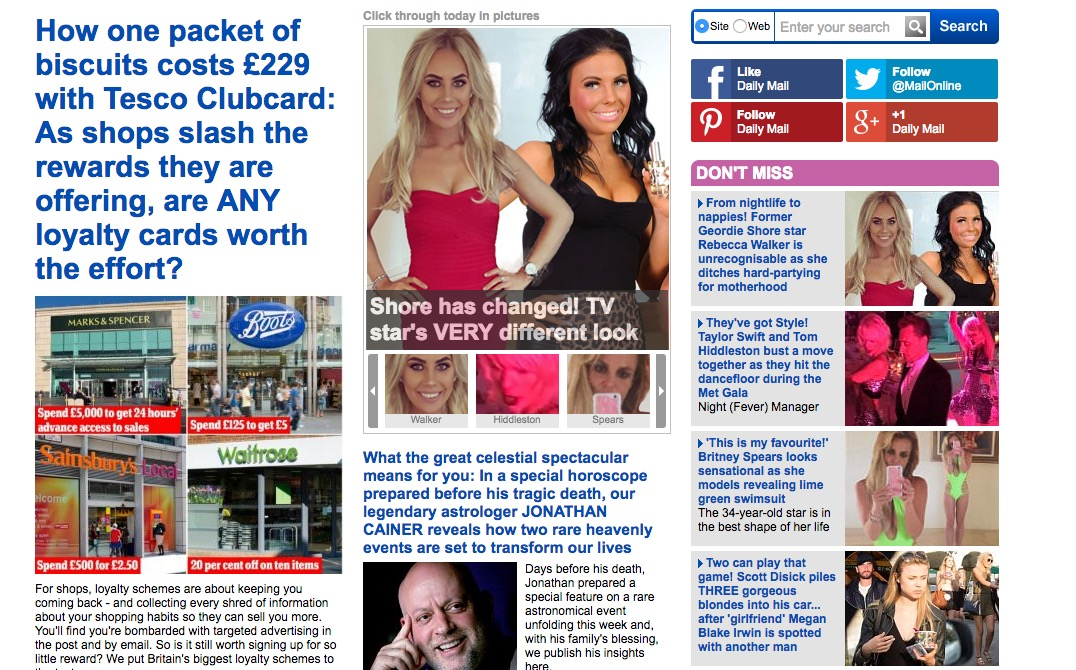 The Daily Mail's Don't Miss column
