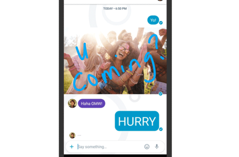 Image result for Picture editing in google allo