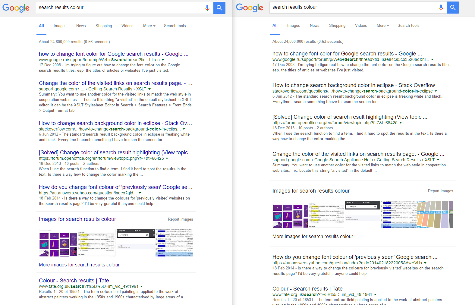 google u0027s testing a change to the way it shows search results