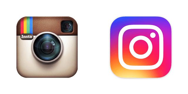 old versus new ig logos