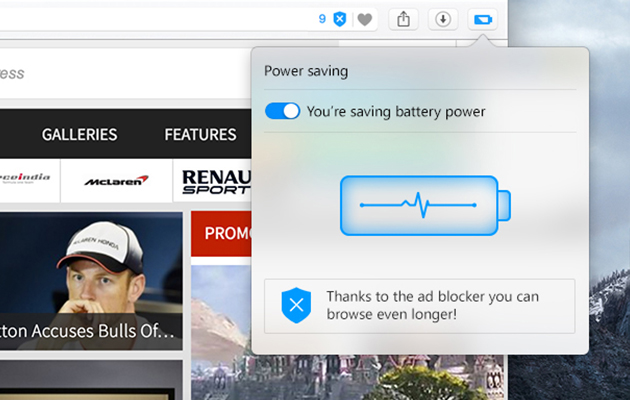 Opera says its browser can help reduce battery usage on your laptop by up to 50 percent
