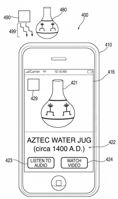 Apple's patent could be used to deliver auxiliary info about things like museum exhibits