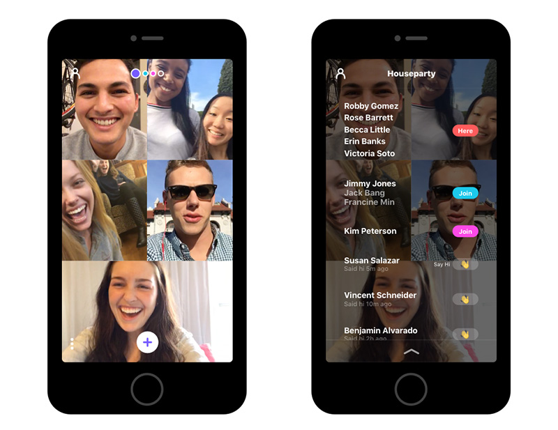 Houseparty lets you start up group video chats with just a link