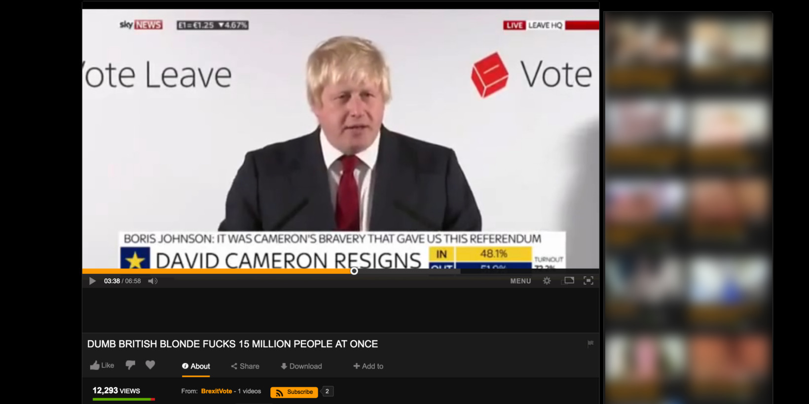 Ex-London Mayors Brexit Speech Is Now On Pornhub, Proving Nothing Is Sacred-9159