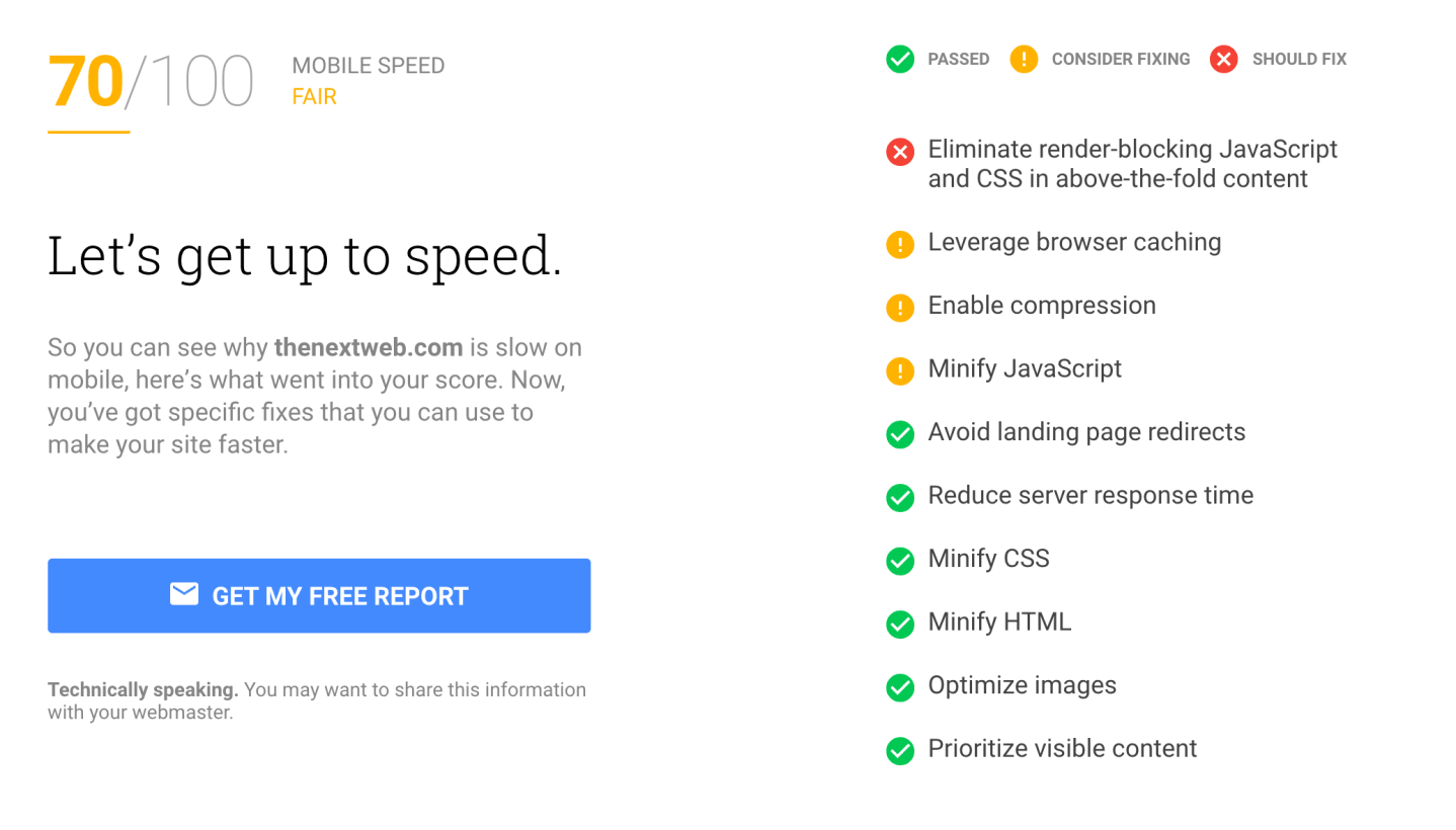 google test my site details