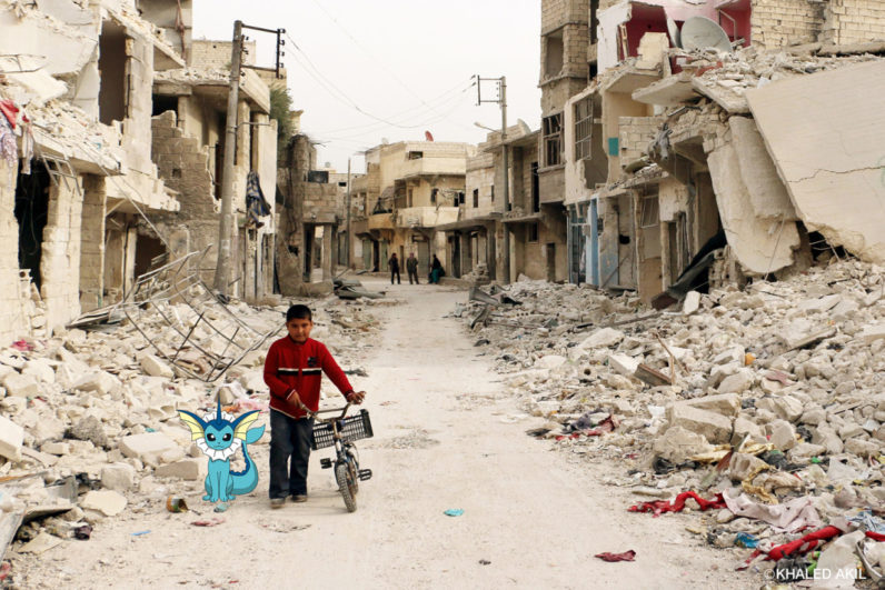 Artist uses Pokémon Go to detail life in war-torn Syria