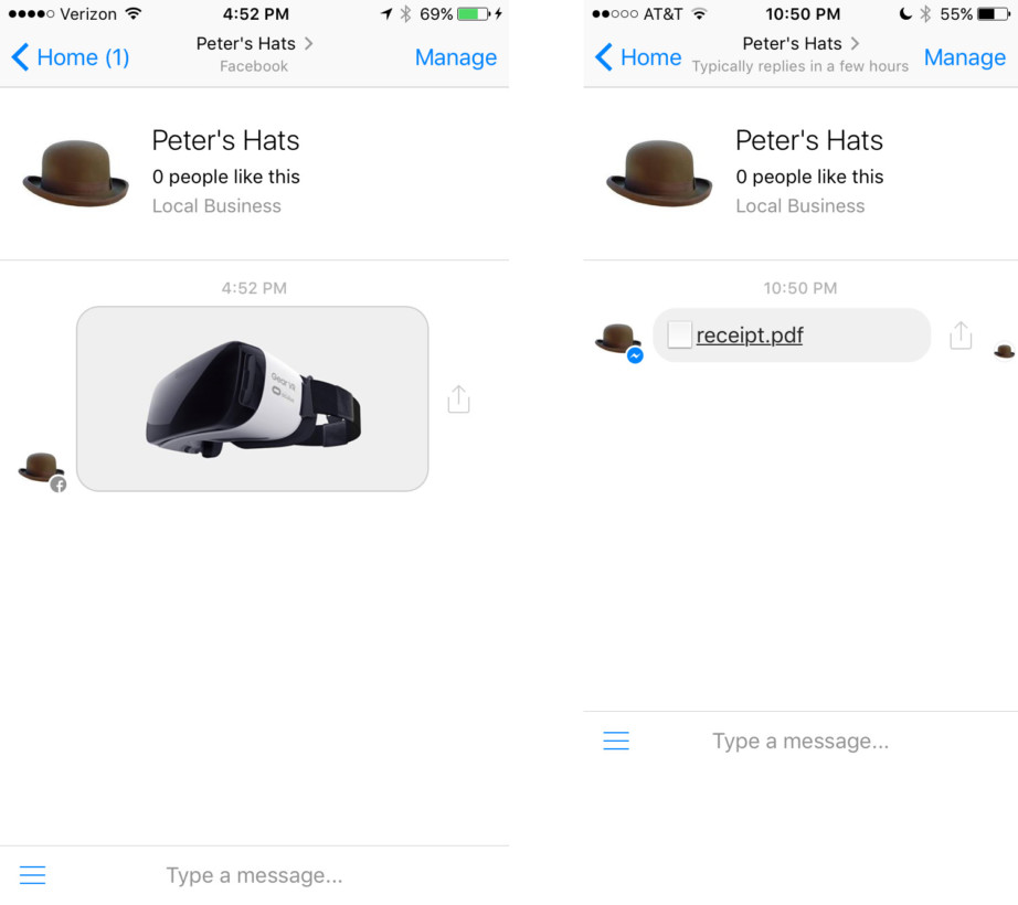 Messenger bots can now send GIFs, video, audio and other files in conversations