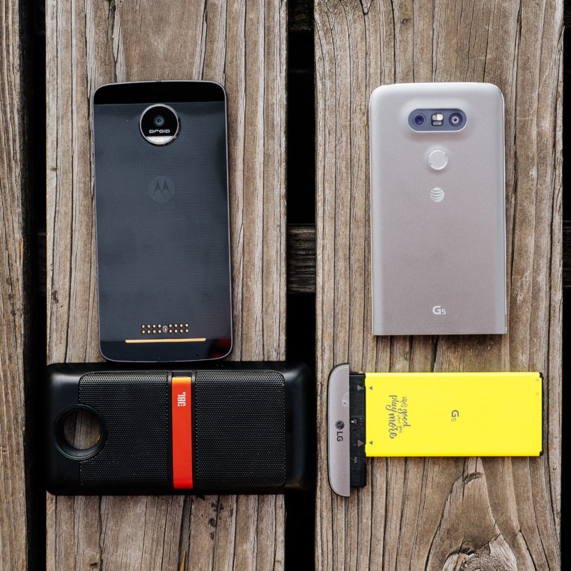 It's hard to argue for LG's approach to modularity when Motorola's is so much faster and more convenient.
