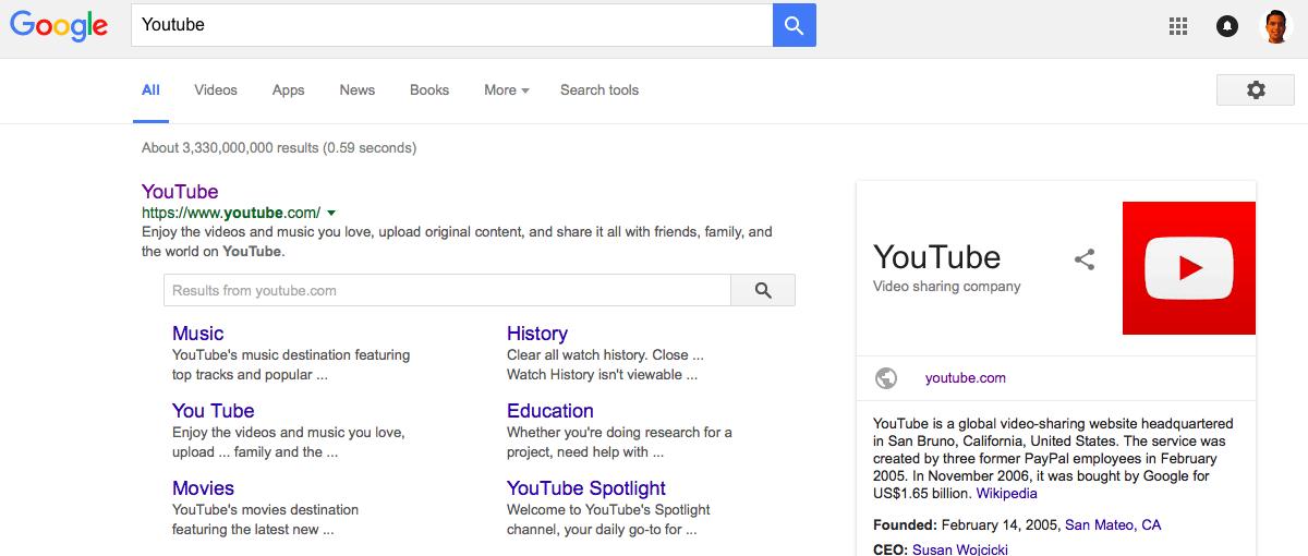 Sitelinks searchbox