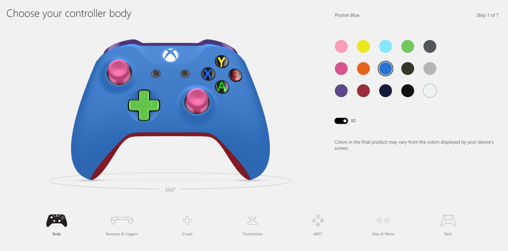 Xbox One S colors design lab