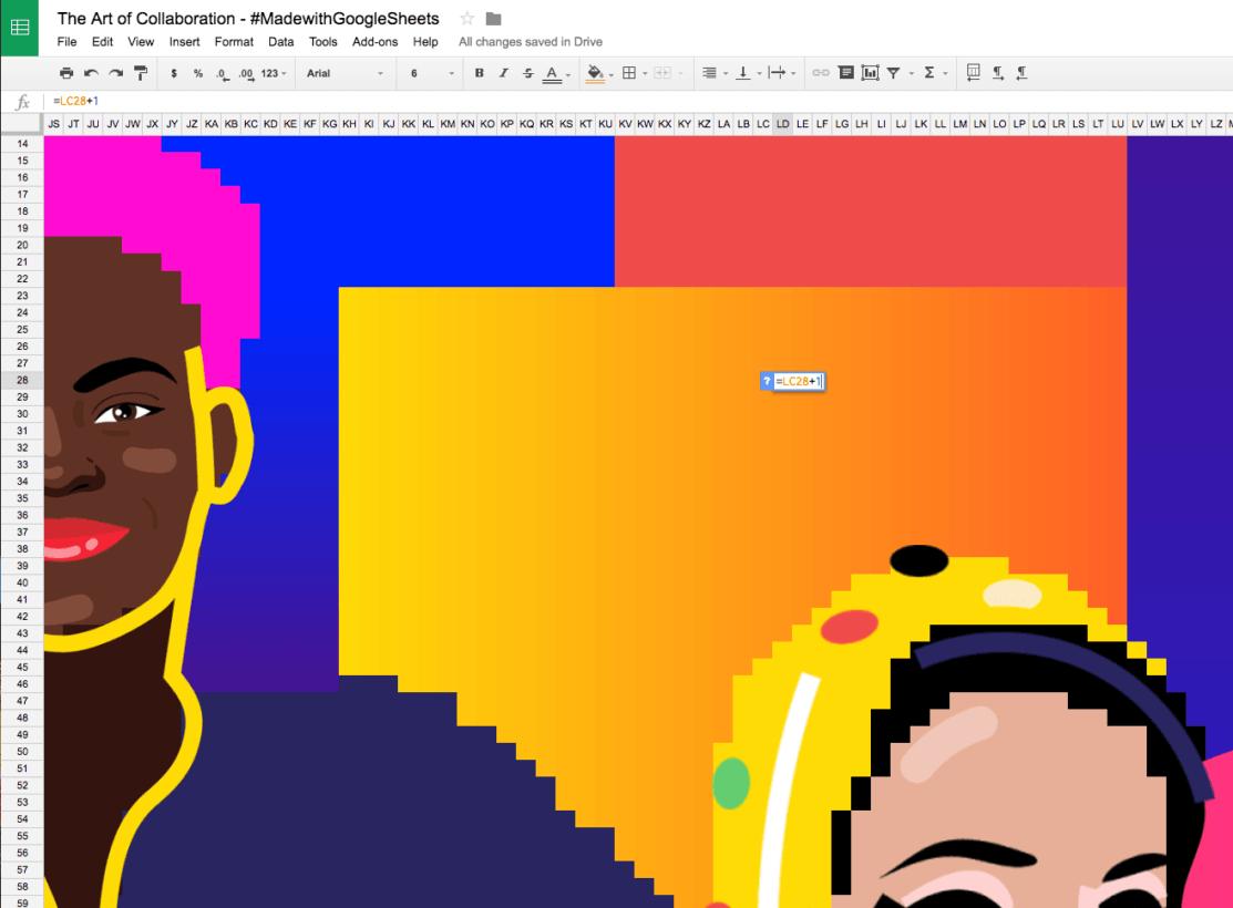 Google Sheets art