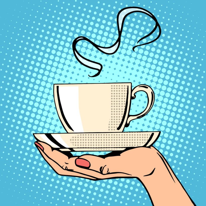 pop art coffee