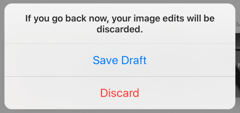 Instagram testing a 'Save Draft' feature it should just roll out to everyone