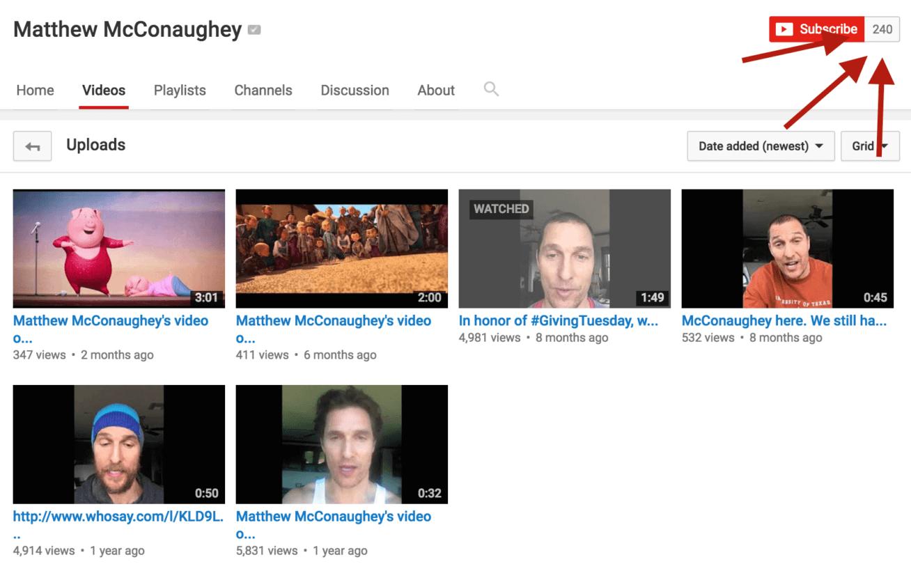Matthew McConaughey youtube channel