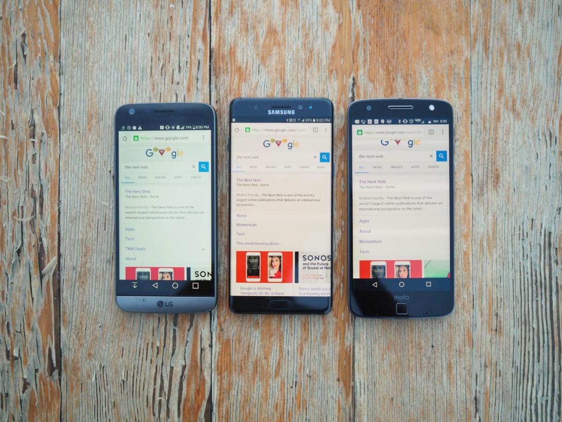 LG G5, Note 7, Moto Z