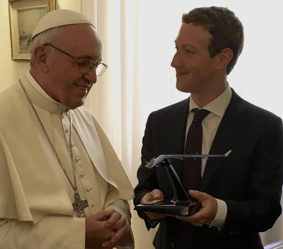 Zuckerberg meets Pope Francis