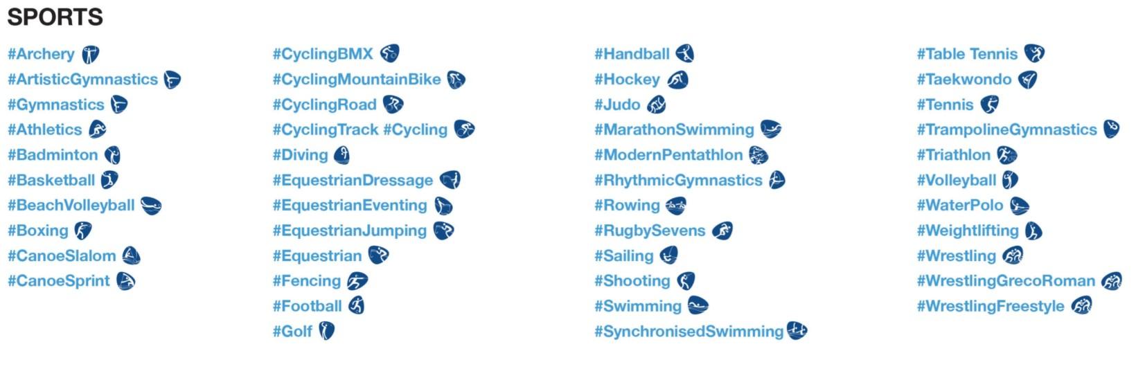 Use the relevant hashtag to invoke the emoji