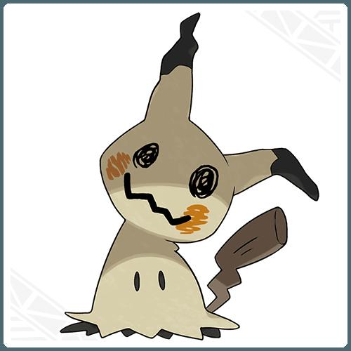 Mimikyu in its Pikachu disguise