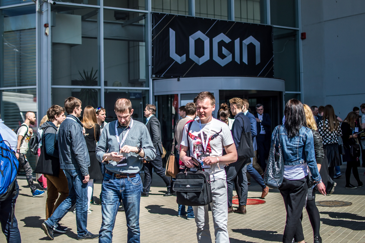 Entrance to the LOGIN 2016 conference in Vilnius