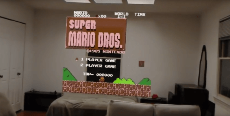 Video: Playing Super Mario on Microsoft HoloLens looks equally awesome and surreal