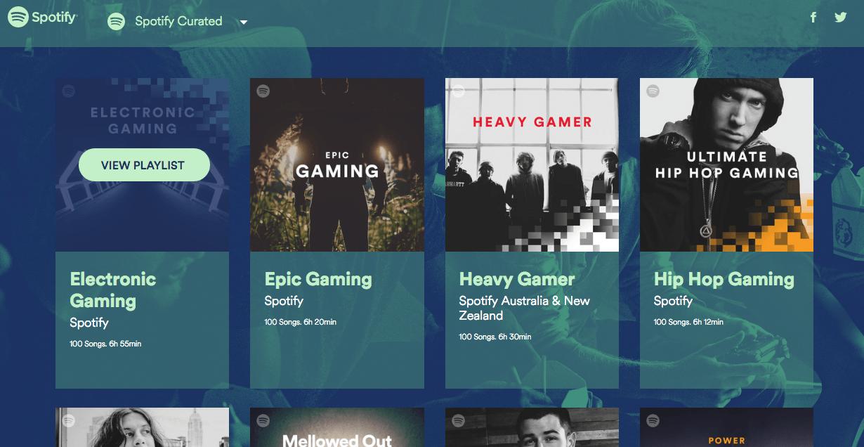 spotify gaming playlists
