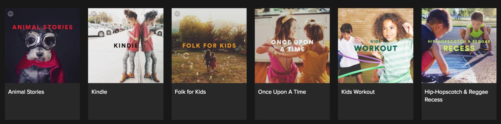 spotify kids section