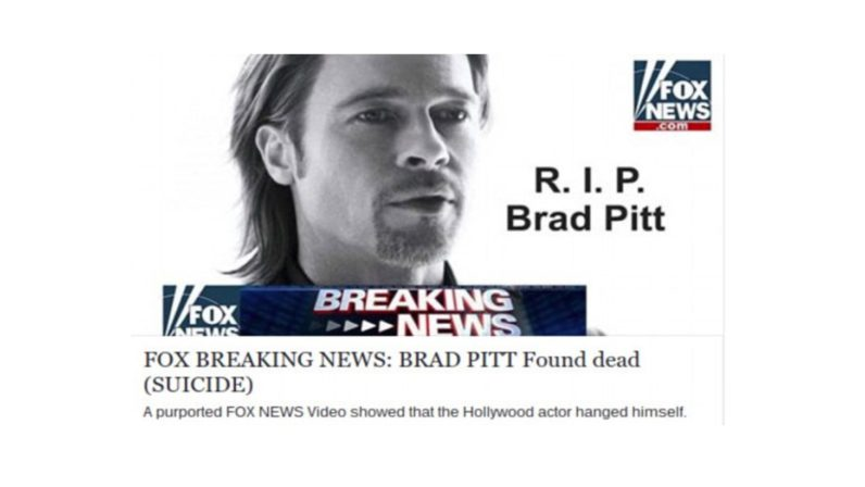 Brad Pitt isn't dead, so don't click that dodgy link on Facebook