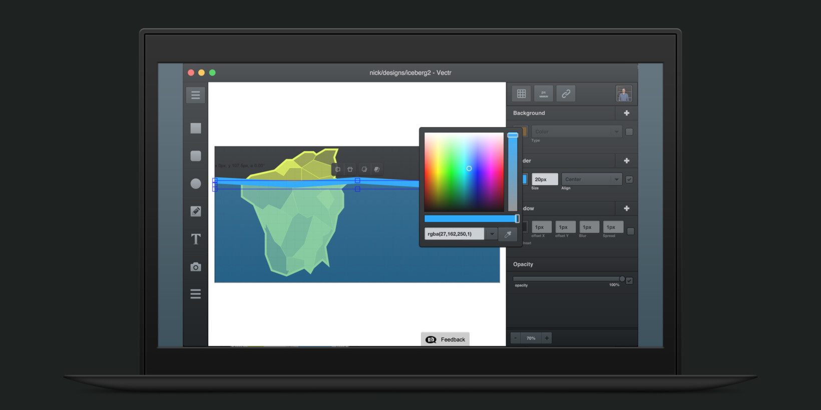vectr is an excellent free graphics app for beginners