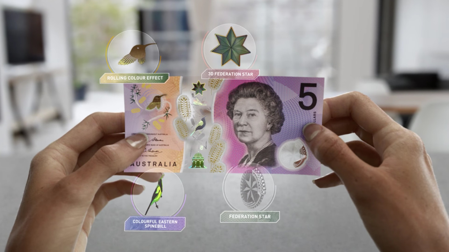 The new Australian $5 bills look like they're from the future
